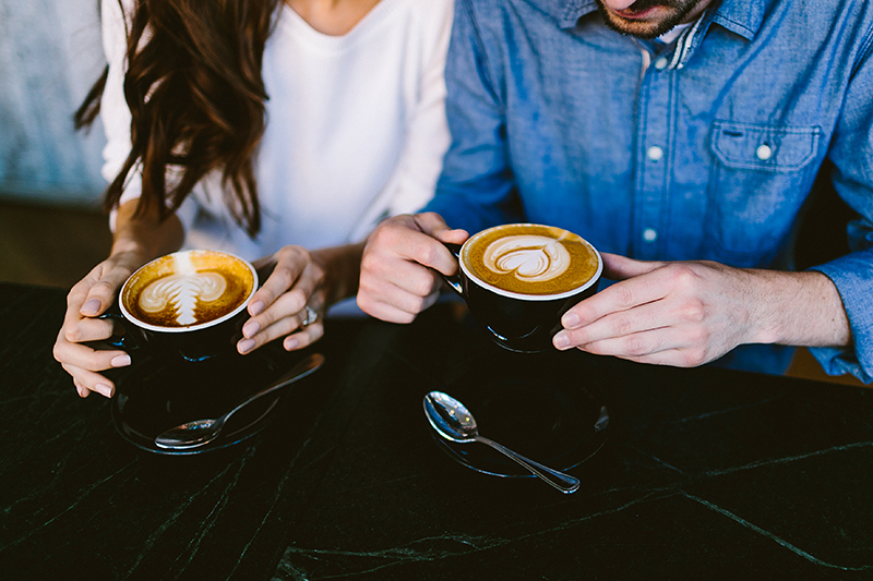 Coffee Shop Engagement Shoot
