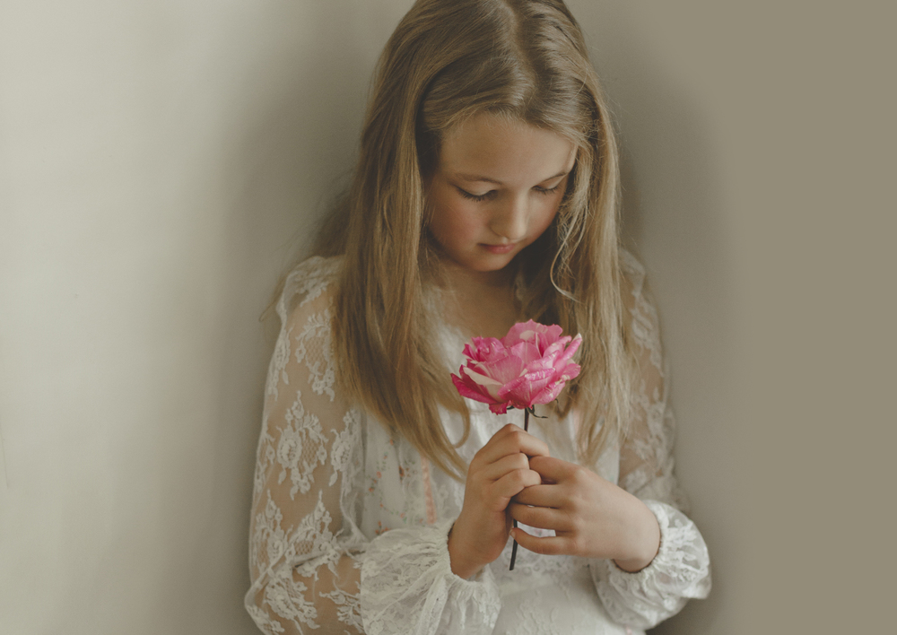 Girl holding flower!