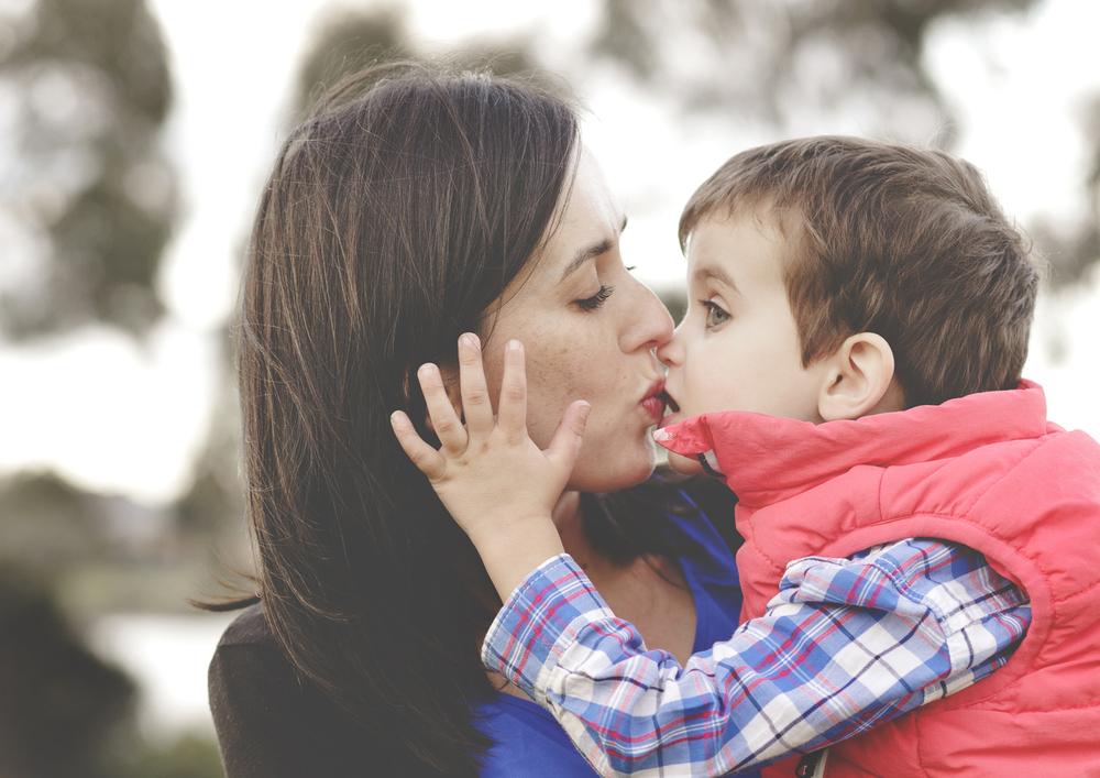 Toddler's big, wet kisses!