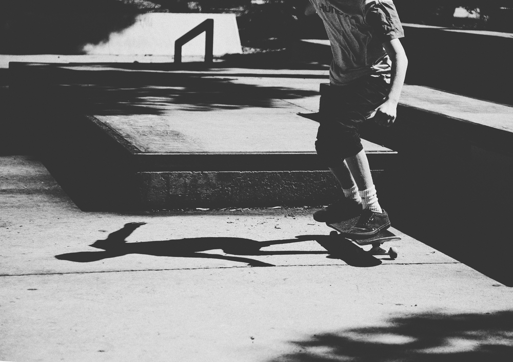 Shadow of boy skateboarding!