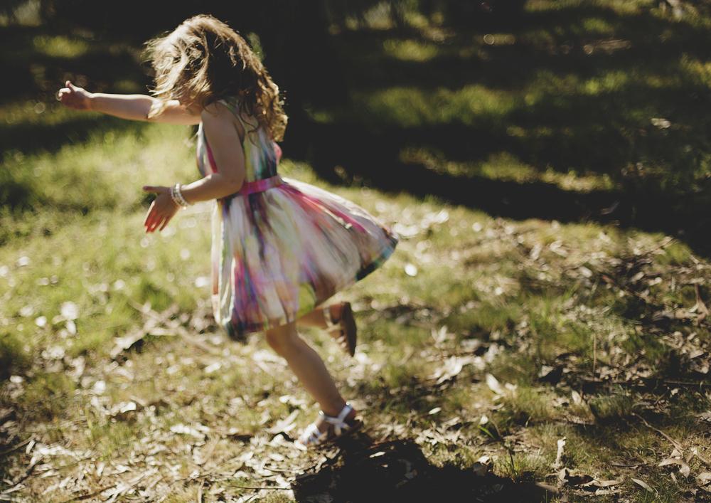 Girl twirling!