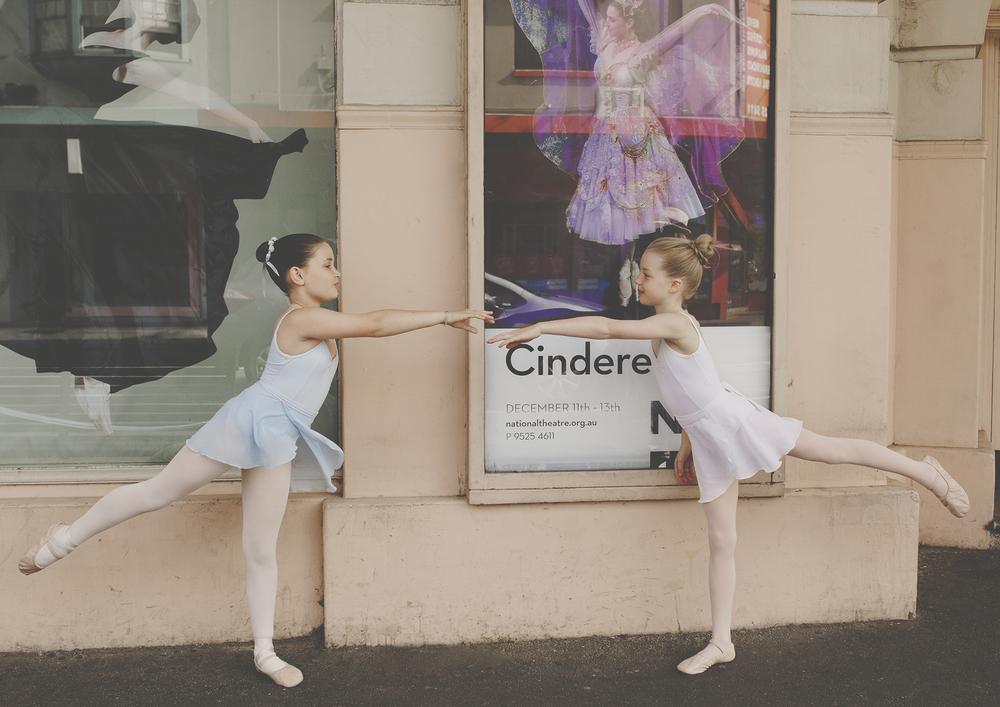 Children practicing their ballet!
