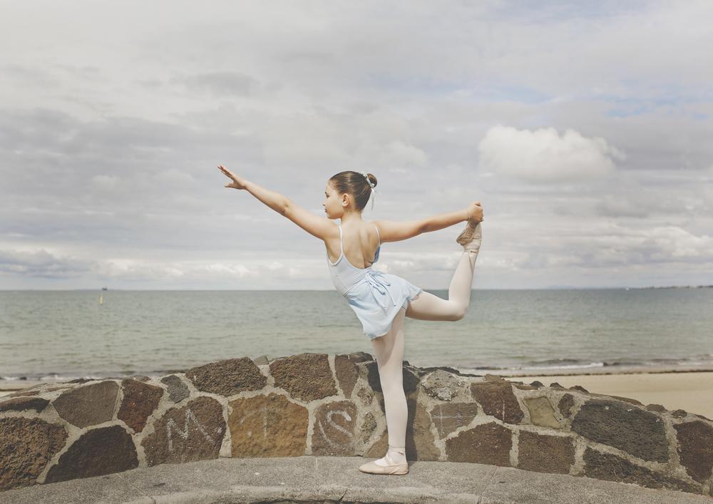 Child Ballet stance!