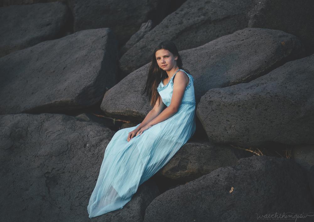 Little girl on the rocks!