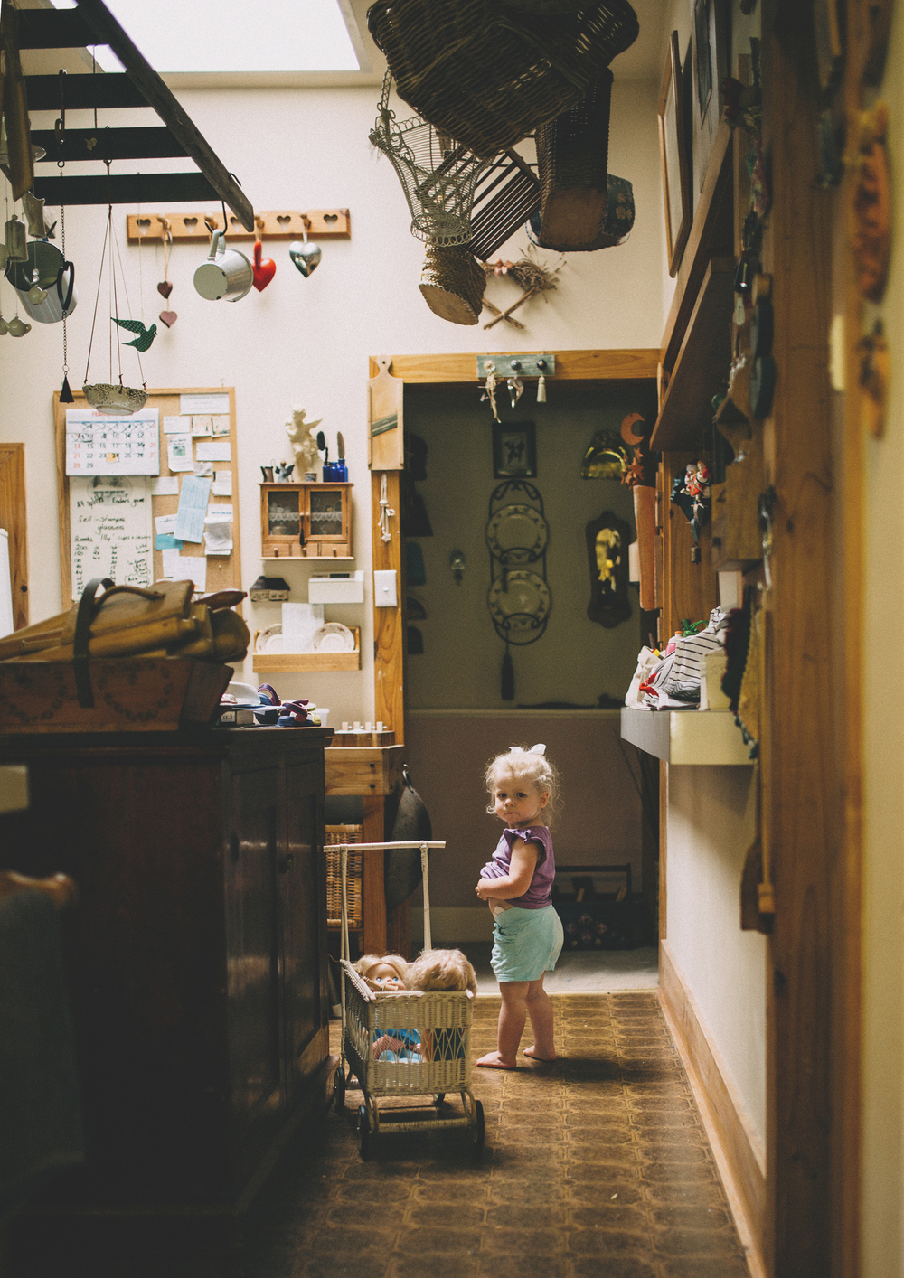 Little toddler in the kitchen - Unposed Children's Photography Melbourne