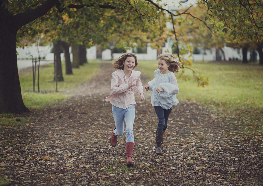 Children running at the park!