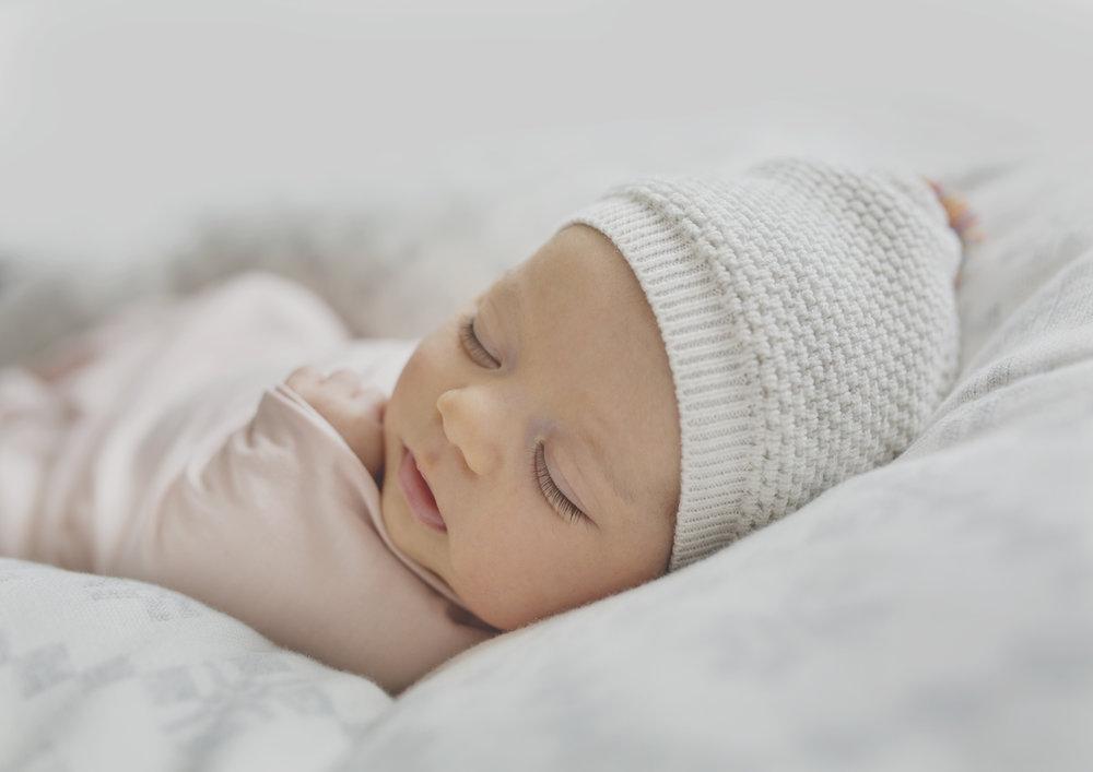 Sleeping Newborn Baby Girl!