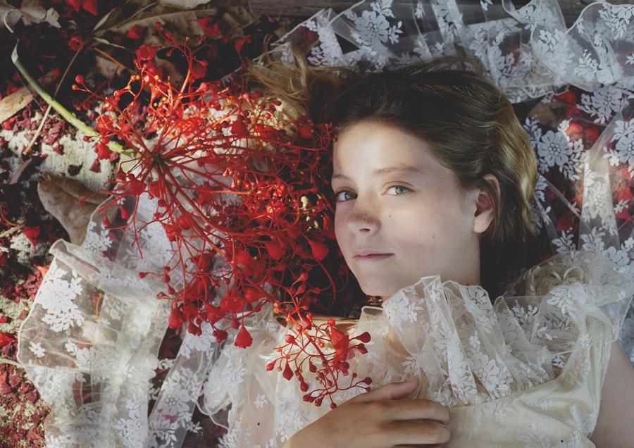 Overhead image of tween girl!