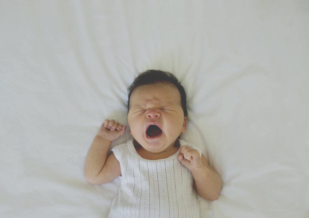 Newborn baby yawn!
