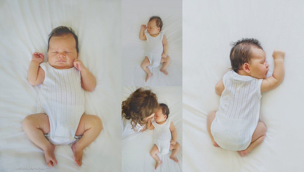 Collage of newborn baby boy!