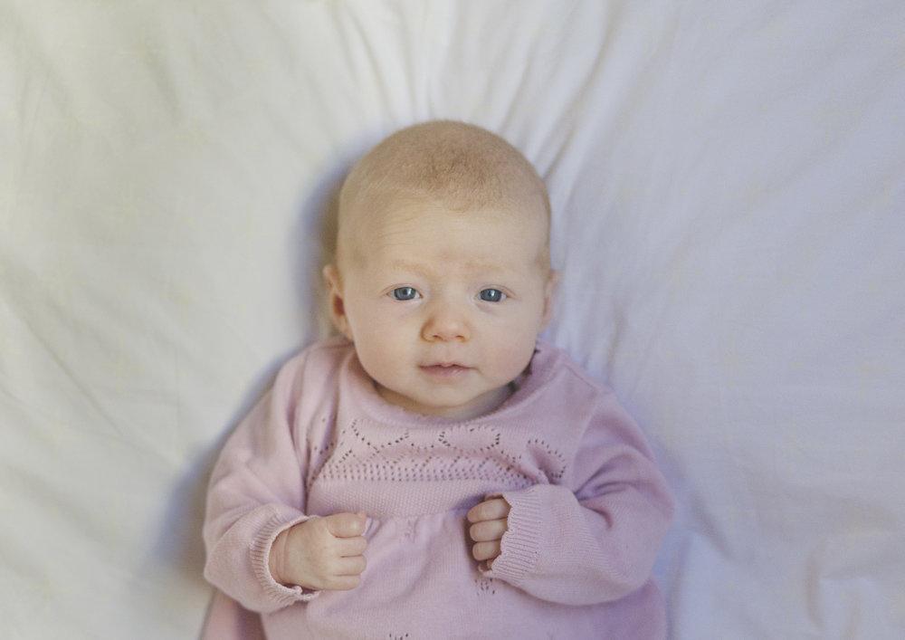 Beautiful 8 week old newborn baby girl