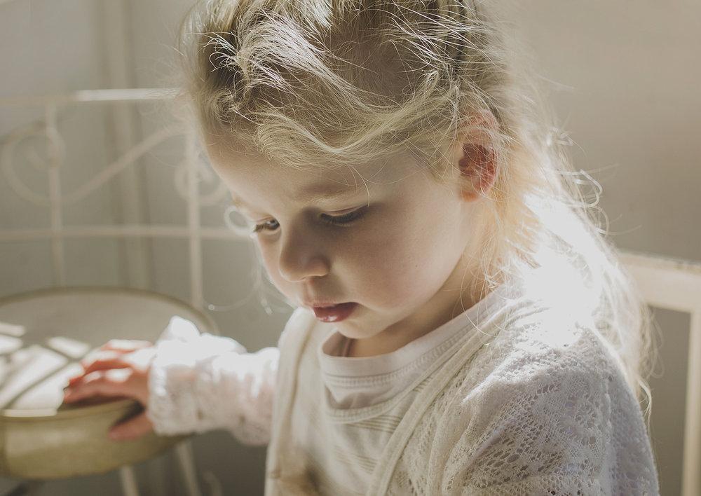 Backlit image of little toddler!