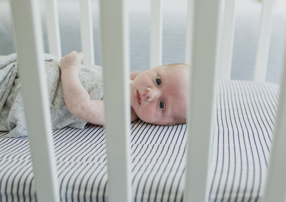 Newborn Baby Boy in his cot