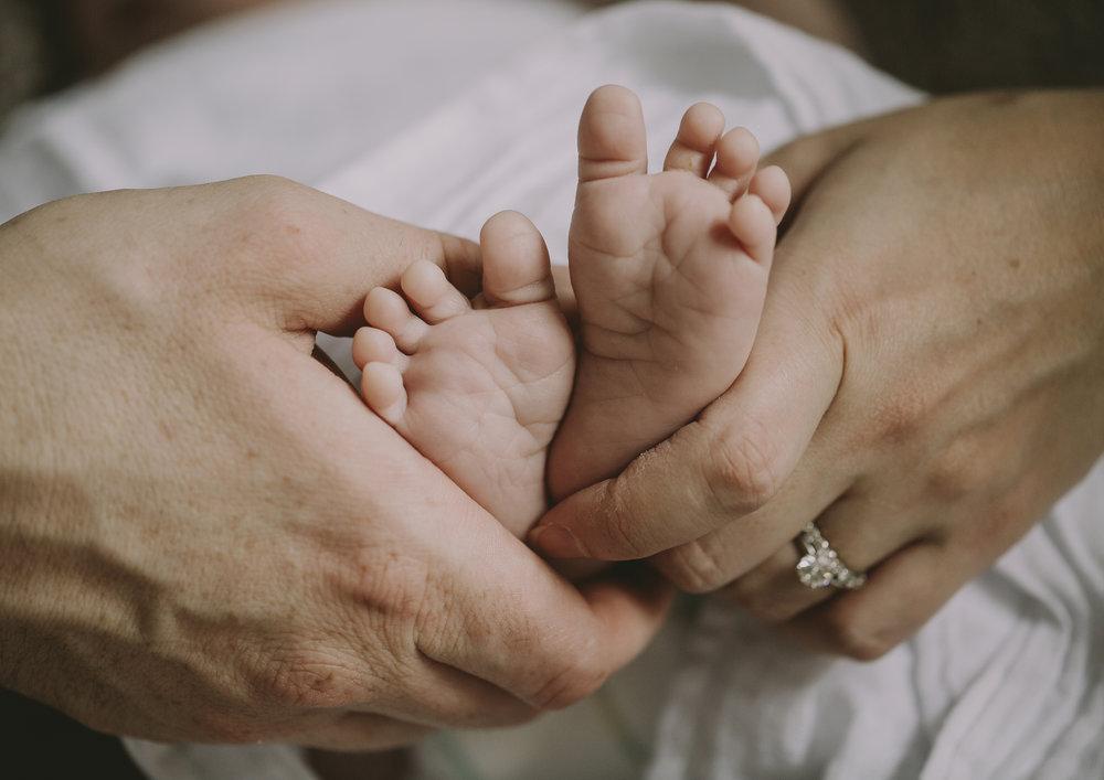 Newborn Baby Boy tiny feet