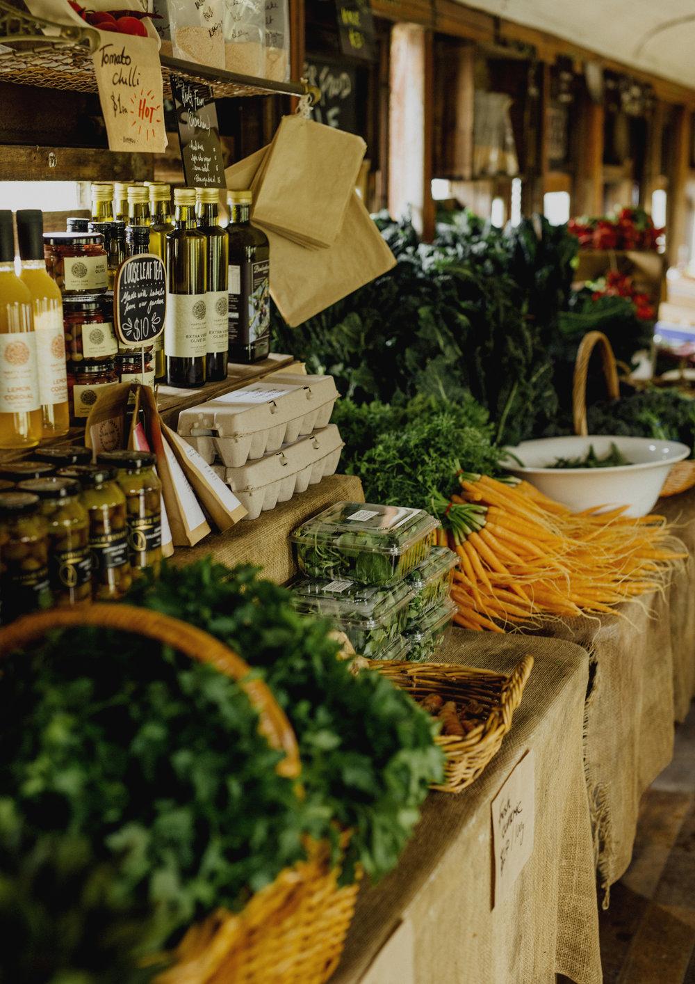 Fresh produce for sale at Benton Rise Farm