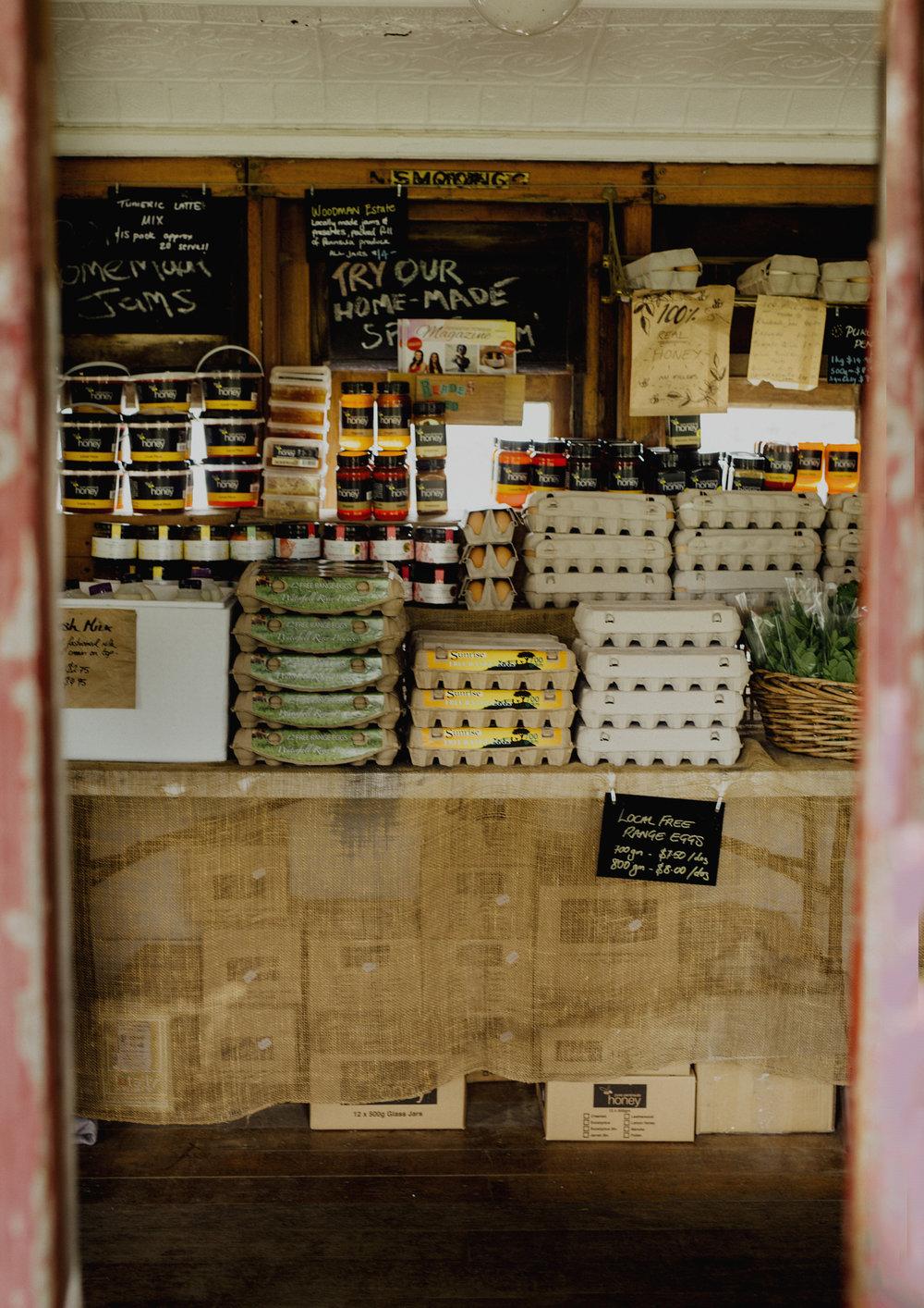 Produce for sale at Benton Rise Farm