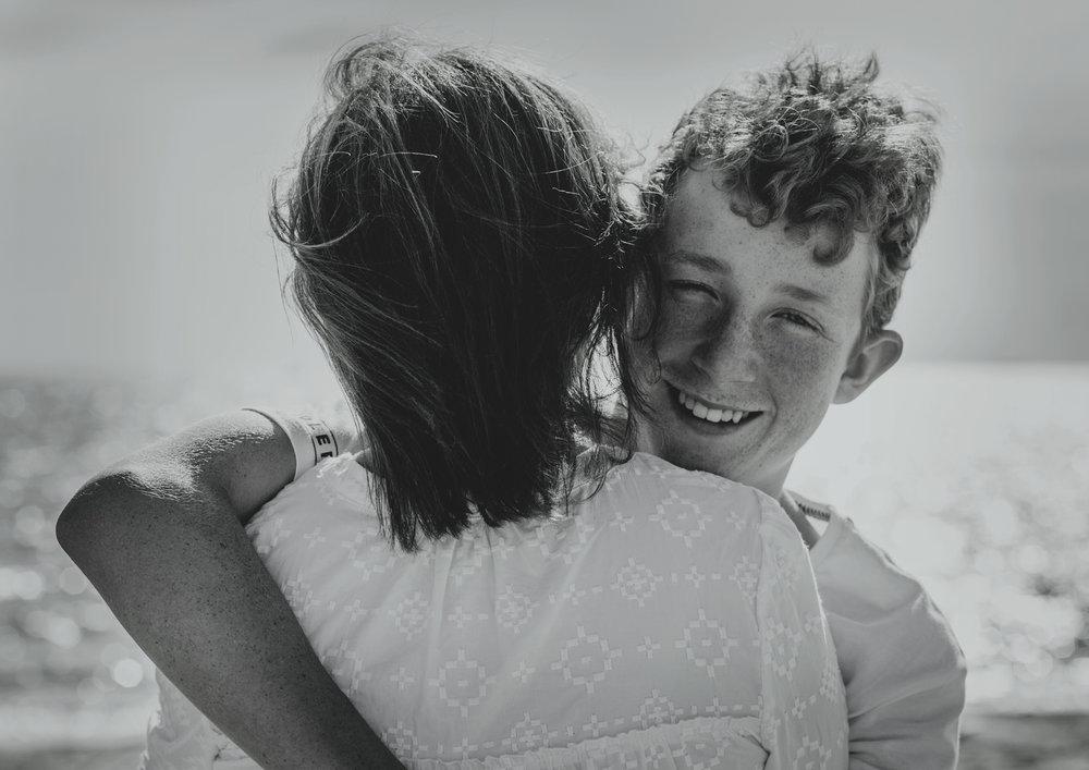 Teenage boy loves his Mum!