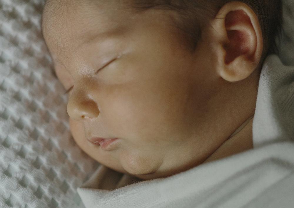 Newborn Baby Boy features