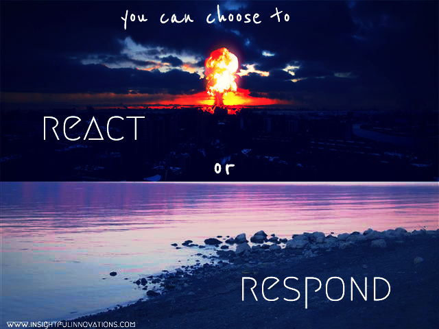 Image result for Reaction Vs Response