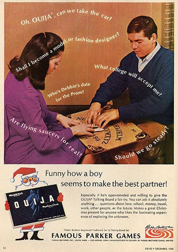 1969 Ouija board ad photo credit: solidariat
