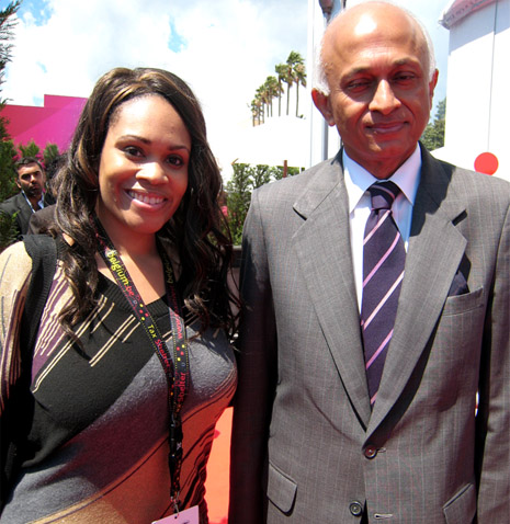 Princess Angelique Monét & Film Ambassador of India, Ranjan Mathai