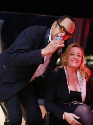 Legendary Voice of Monte Carlo Alan Landry and Artist Priska Medam