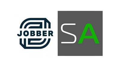 Jobber logo and Service Autopilot logo side by side comparing the two software.