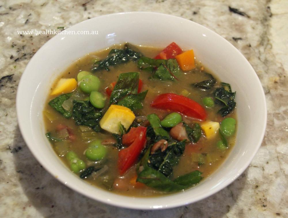 Minestrone Soup recipe Health Kitchen