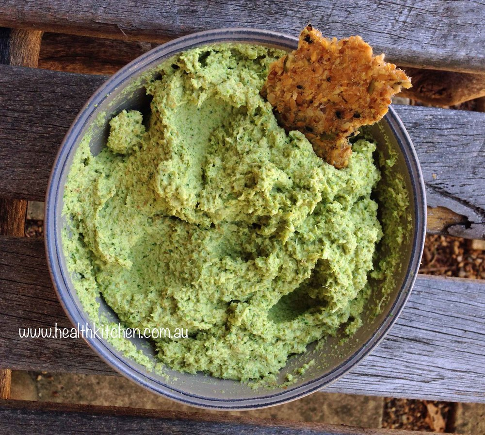 easy broccoli tahini pate recipe
