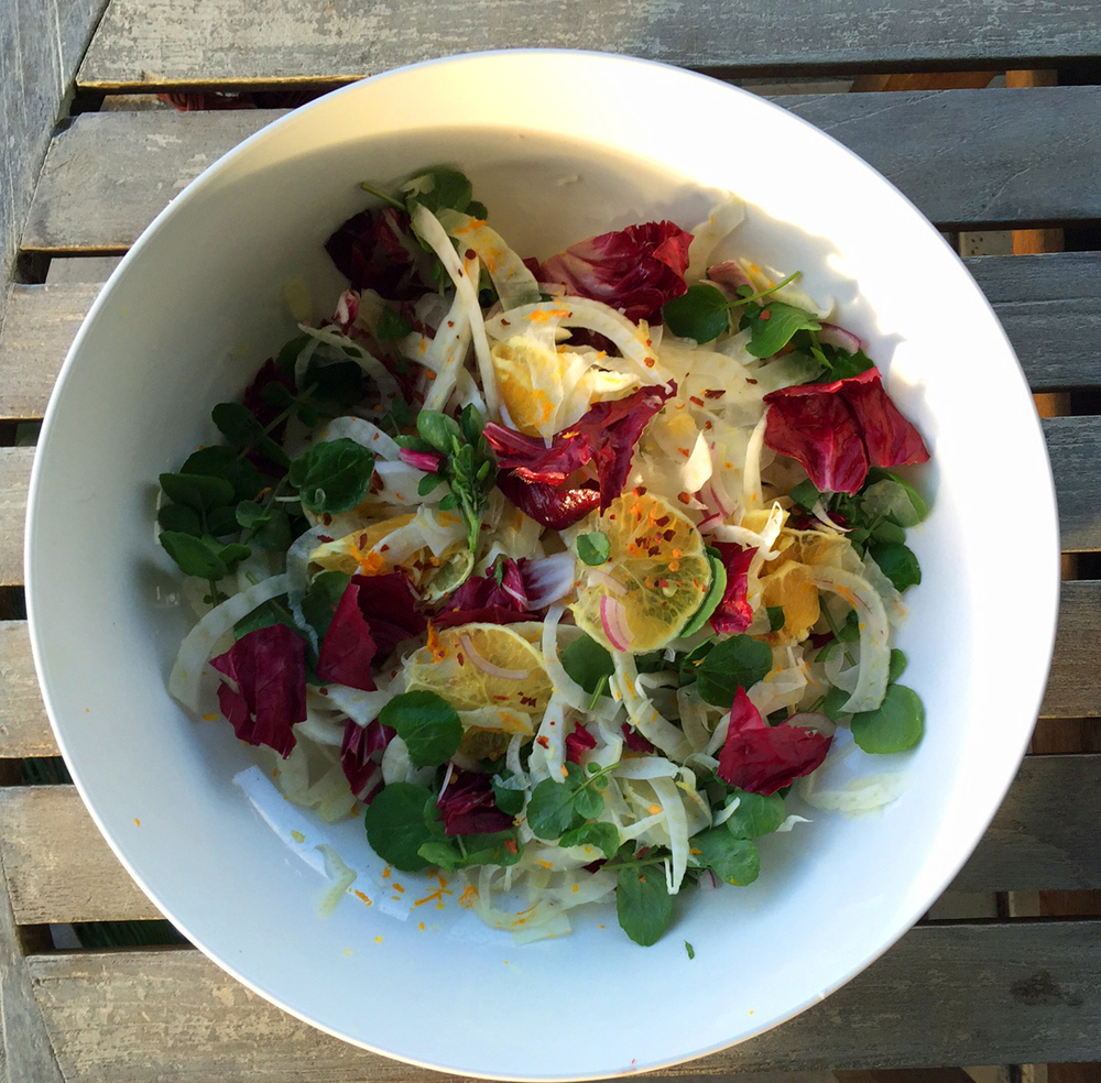 fennel watercress salad recipe