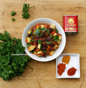 Spicy Kidney Bean Zuccini Recipe Health Kitchen