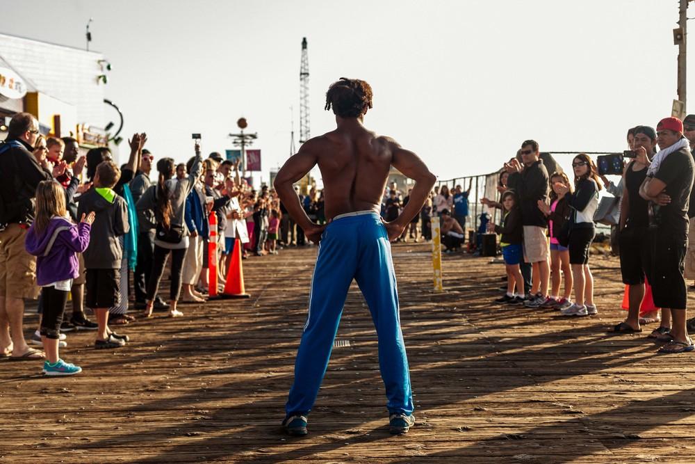 a street performer prepares to perform.jpg