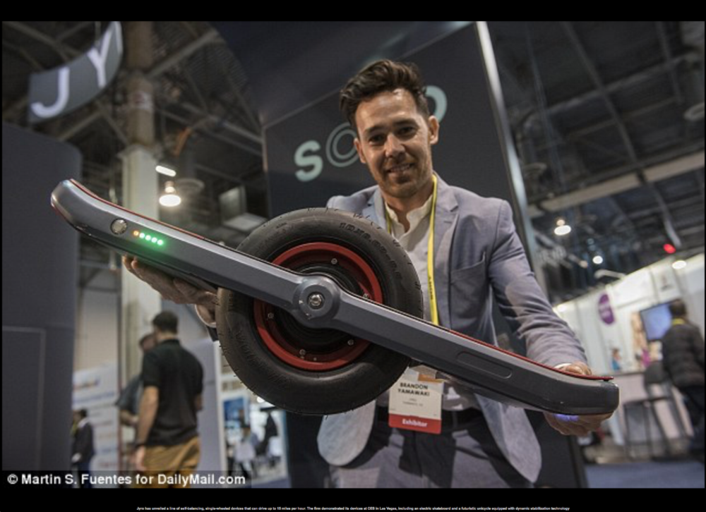 Brandon Yamawaki Shows of the Jyro Roll at this Years CES