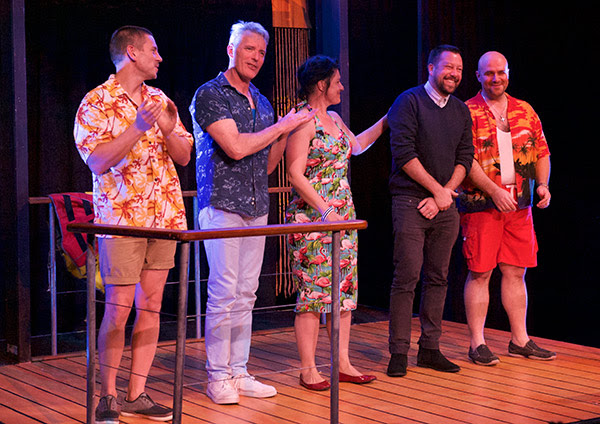 Andrew Casey, Guy Hooper, Melissa King, Finegan Kruckemeyer, John Xintavelonis. (Photo: Tony McKendrick)