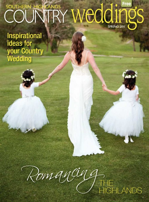 Our image made the cover of Southern Highlands Country Wedding!