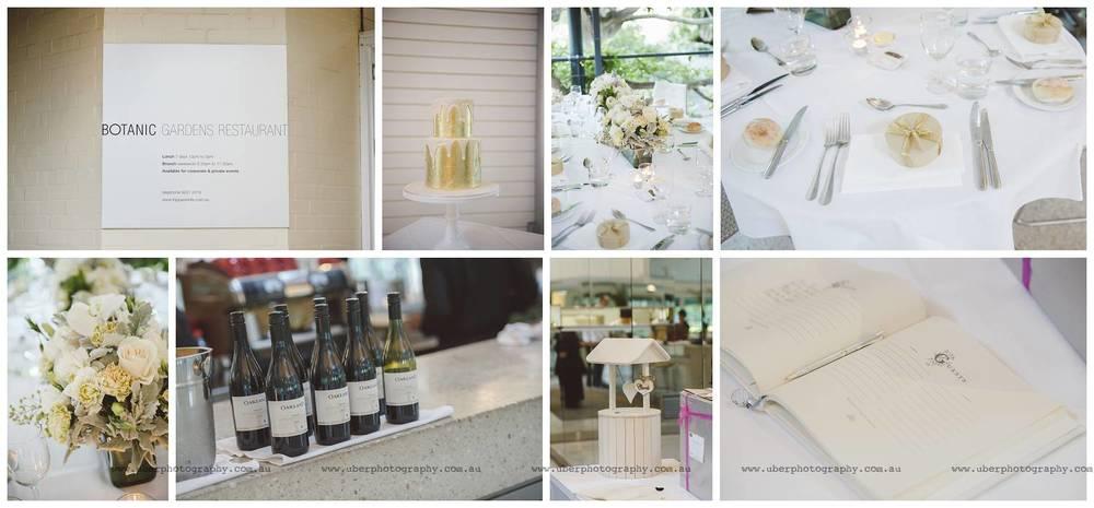 Botanic Gardens Restaurant wedding reception