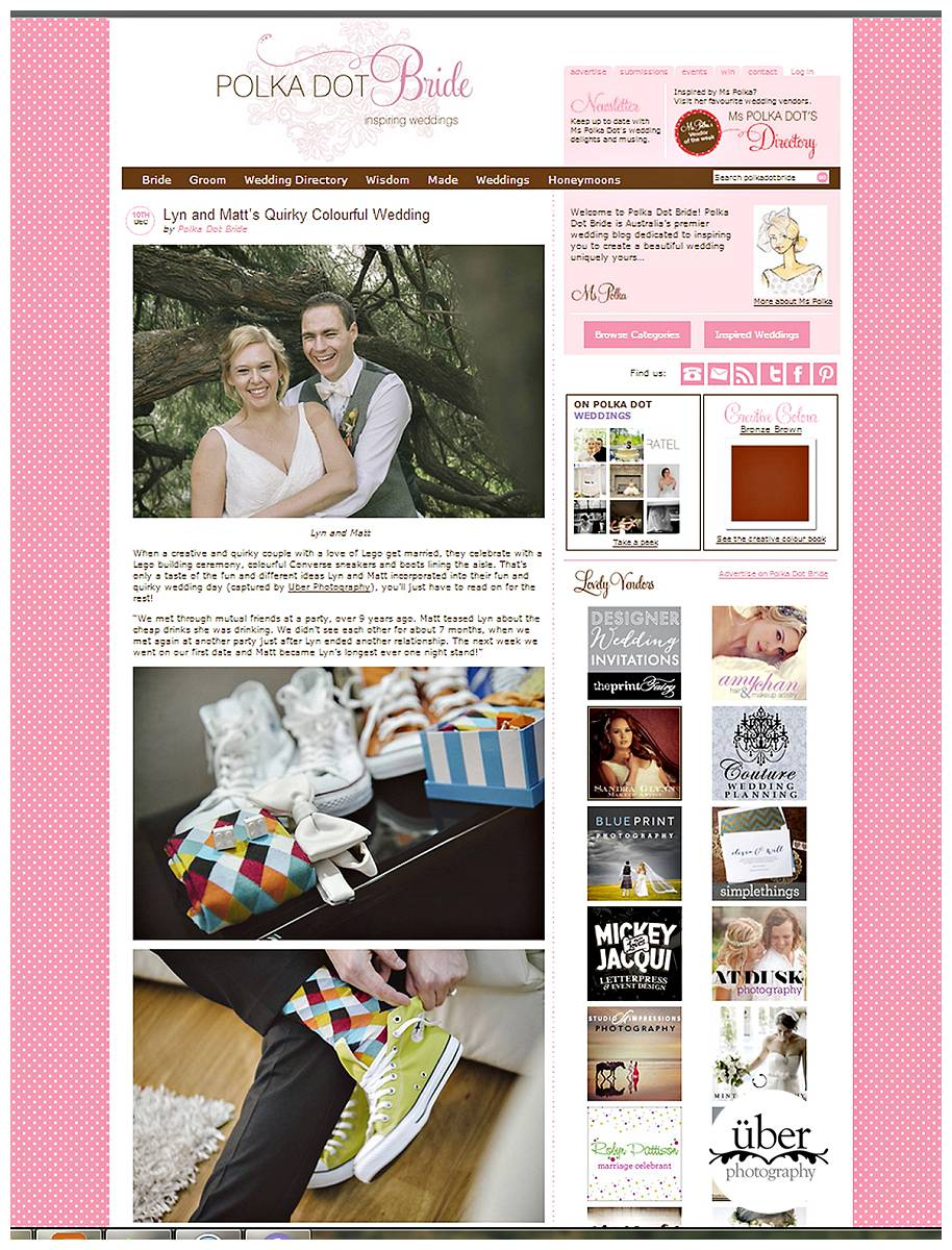 Stoked to be featured on Polka Dot Bride.