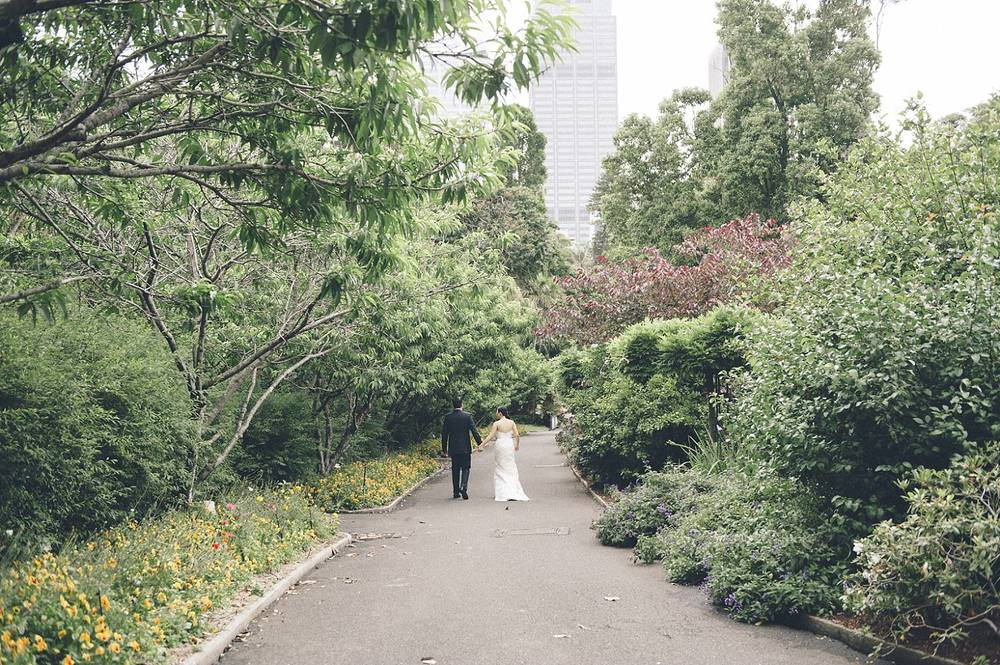 After the ceremony, a stroll through the Botanic Gardens, Sydney
