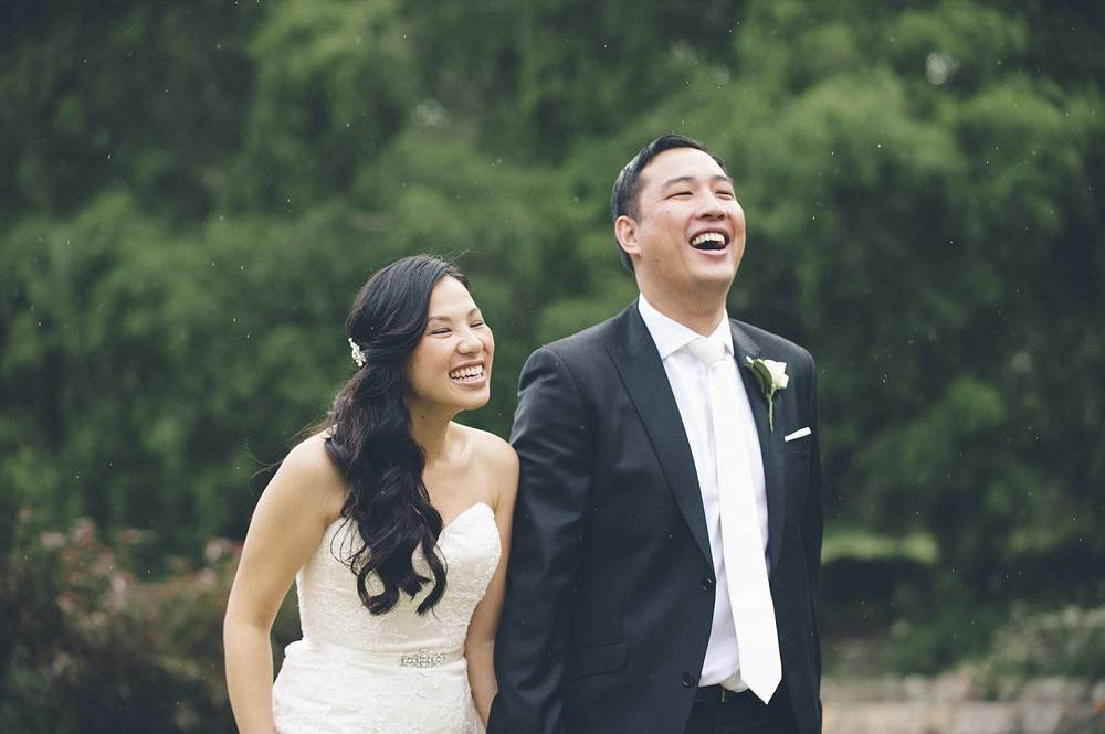 It started to sprinkle a bit, but nothing could dampen Bill and Sok Khim's spirits today.