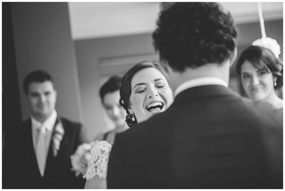 Laughter wedding