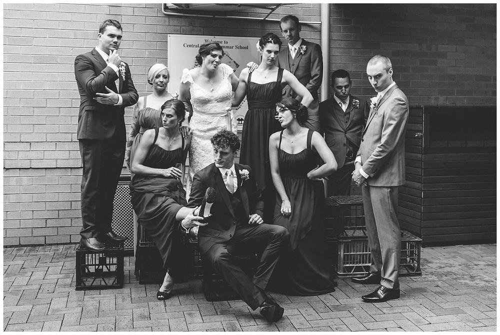 crazy bridal party