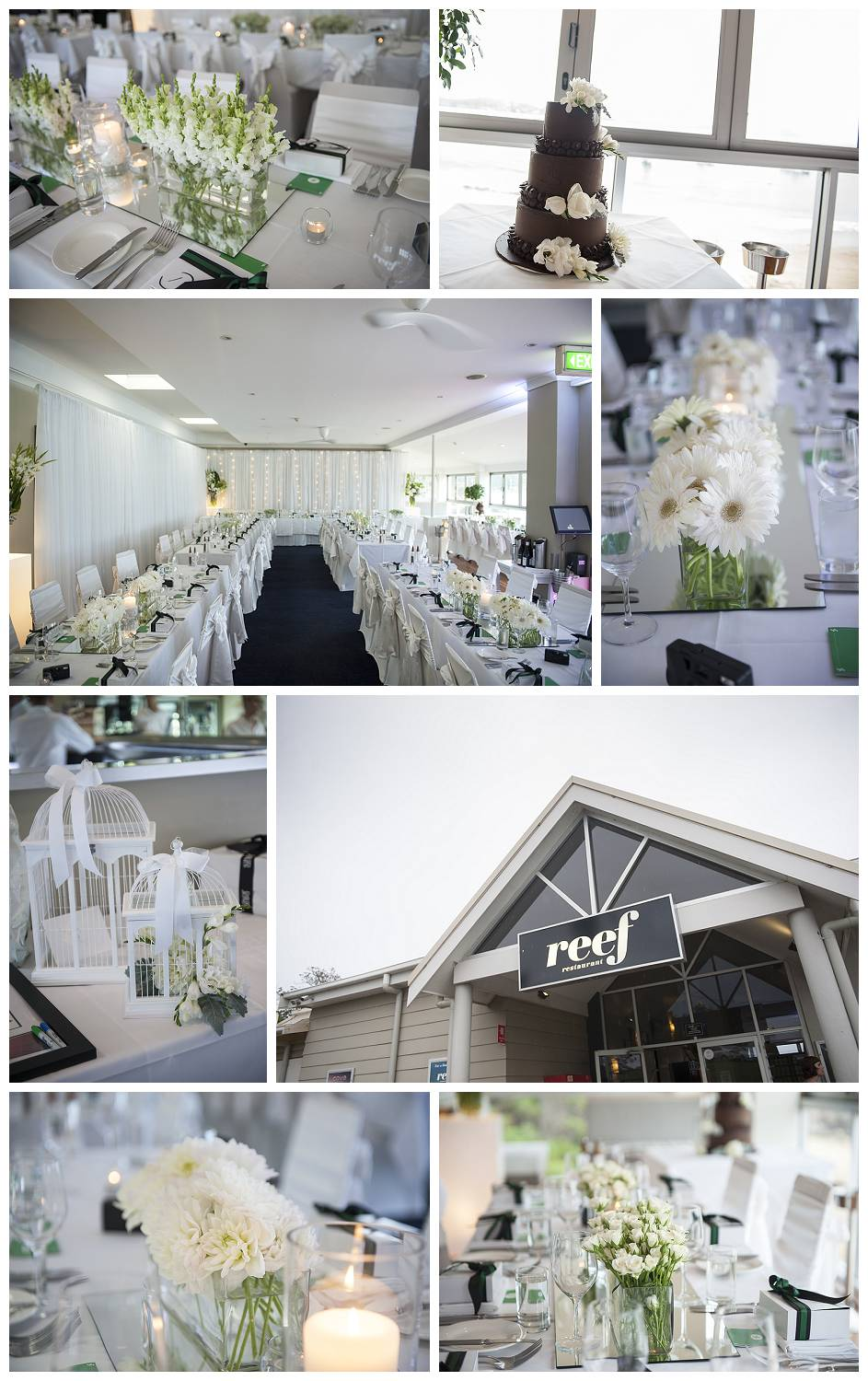 Some of the details at The Reef wedding venue