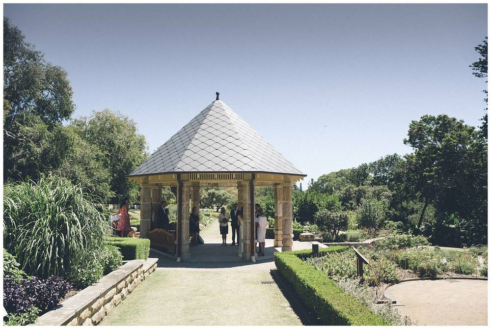 The Herb Garden is a lovely location for a wedding ceremony