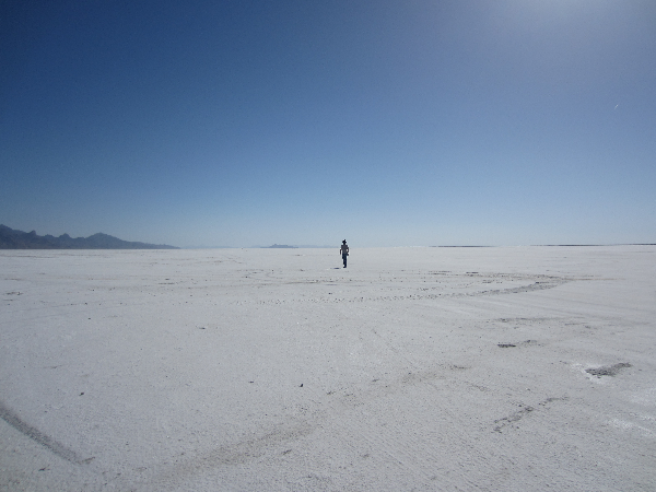 Jason on the Salt Flats.