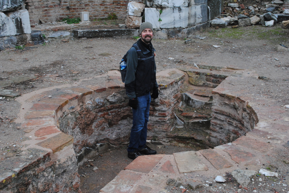 This is me standing in a literal hole, not unlike the figurative hole of my failure to post on this blog.
