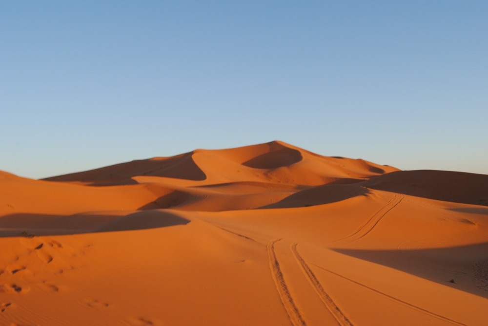 The beautiful Merzouga Sand Dunes.