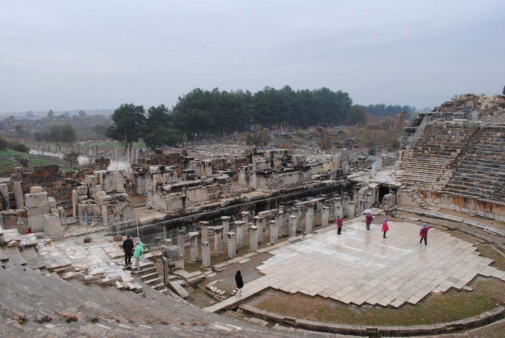 The view from the arena in Ephesus.