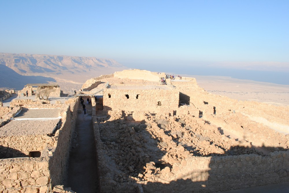 The ancient bricks of Masada.
