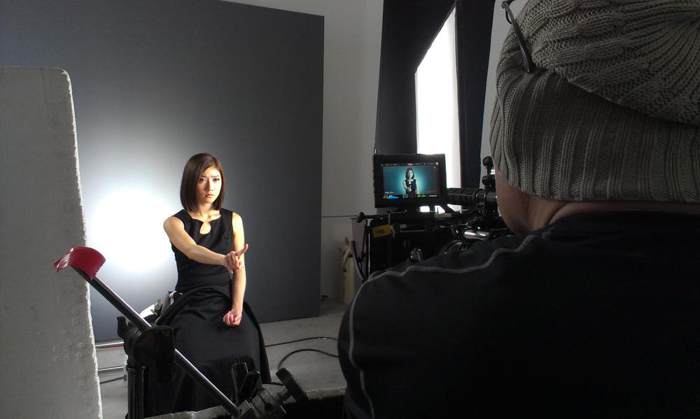 Mediacorp Artiste Kate Pang rolling her take for the teaser Start Up!