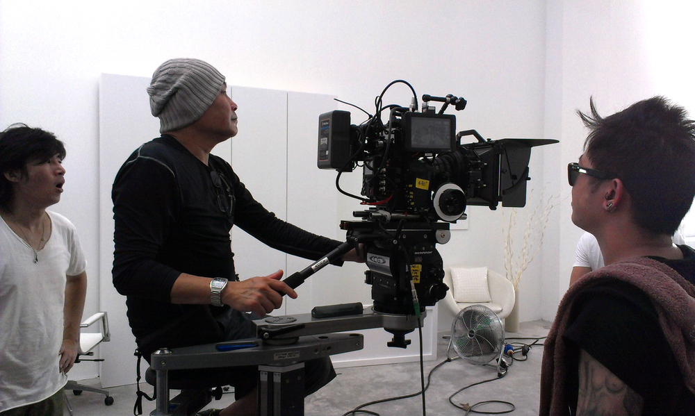 Director of Photography Nic Low on set.